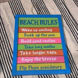 Beach decor!